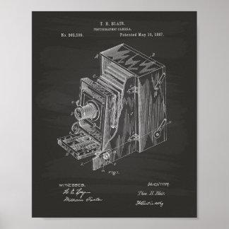 Camera Apparatus 1887 Patent Art - Chalkboard Poster