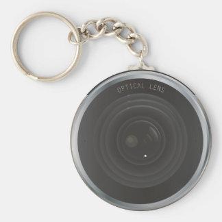 Camera Basic Round Button Key Ring