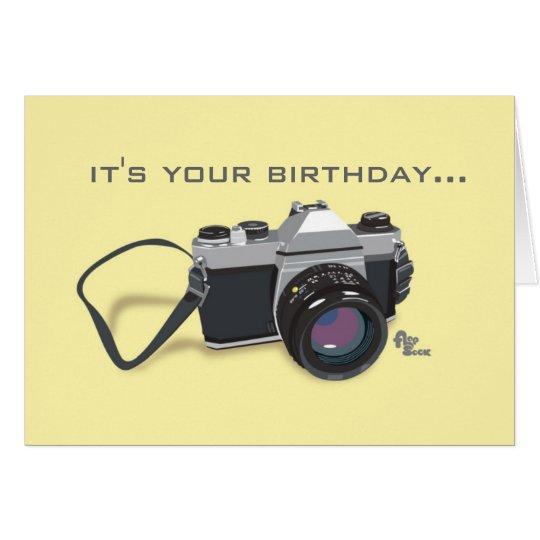 Camera Birthday Card