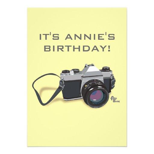 Camera Birthday Invitation
