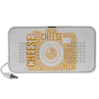 Camera cheese, word art, text design speaker