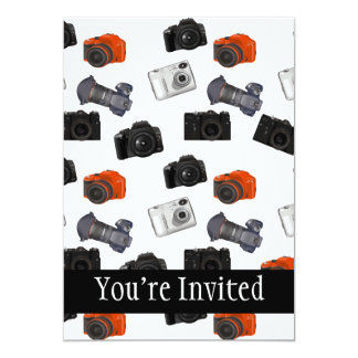 Camera Collage On White Personalized Announcement