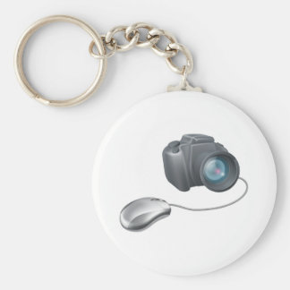 Camera computer mouse concept keychain