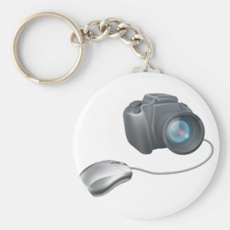 Camera computer mouse concept key chains