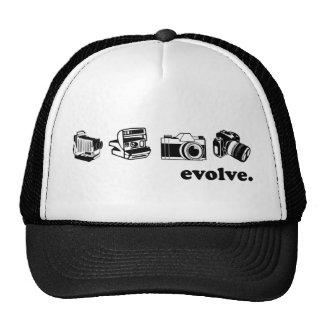 Camera evolution trucker hats