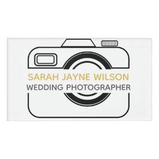 Camera Icon Wedding Photographer Name Tag