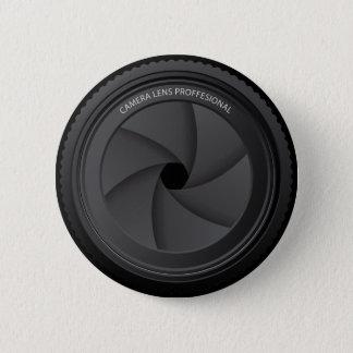 Camera Lens 6 Cm Round Badge