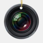 Camera Lens - Add your photo Round Ceramic Decoration