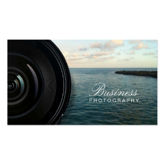 Camera Lens Ocean Landscape Photography Pack Of Standard Business Cards