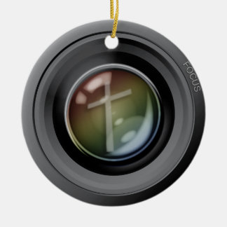 Camera Lens Ornament. Focus on Jesus. Christmas Ornament
