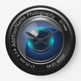 Camera Lens Personalized Wall Clocks