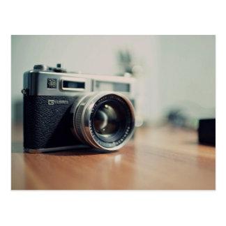 camera lens picture postcard