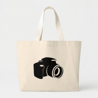Camera love photography fan icon graphic modern large tote bag