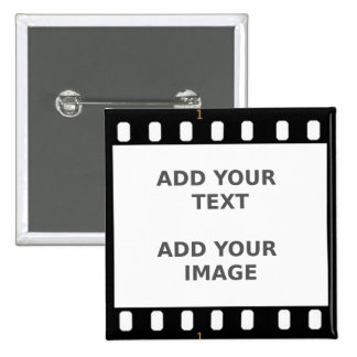 Camera Movie Film Strip Button Badge Name Tag
