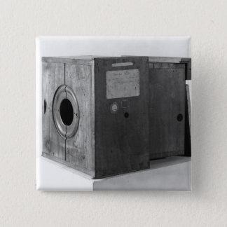 Camera of Joseph Nicephore Niepce, c.1816-22 15 Cm Square Badge