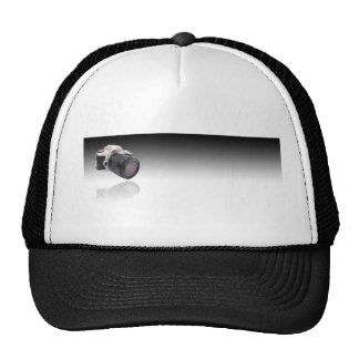 Camera on Black Gradient Hats