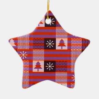 Camera pattern ceramic star decoration