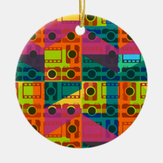 Camera pattern christmas ornament