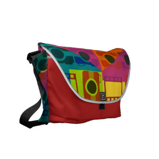 Camera pattern courier bags
