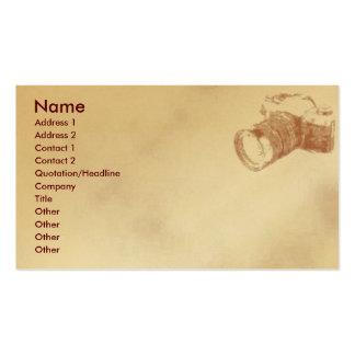 Camera Profile Card Business Cards