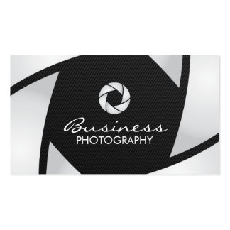 Camera Shutter Carbon Fiber Photography Pack Of Standard Business Cards