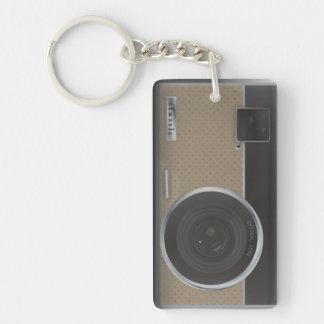 Camera Single-Sided Rectangular Acrylic Key Ring