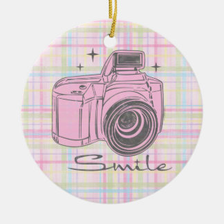 Camera Smile Ornament