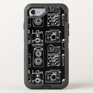 Camera - Vintage Cameras - B&W / Andrea Lauren OtterBox Defender iPhone 7 Case