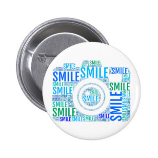 Camera word art, text design smile buttons
