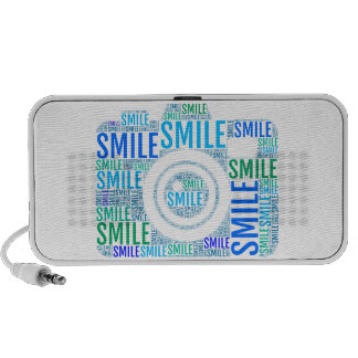 Camera word art, text design smile PC speakers