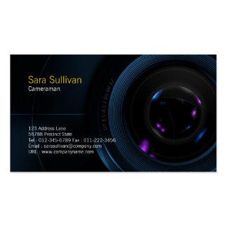 Cameraman Business Card Camera Lens