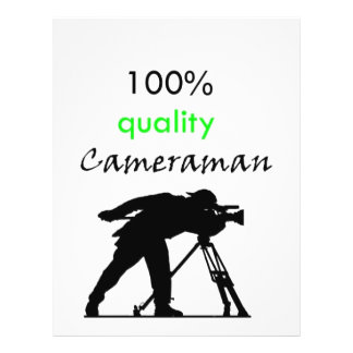 cameraman personalized flyer