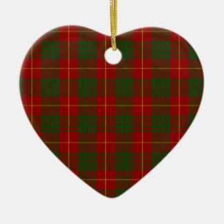 Cameron Clan Family Tartan Ceramic Heart Decoration