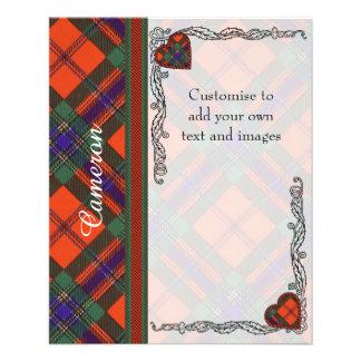 Cameron clan Plaid Scottish tartan 11.5 Cm X 14 Cm Flyer
