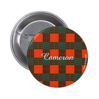 Cameron clan Plaid Scottish tartan 6 Cm Round Badge