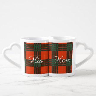 Cameron clan Plaid Scottish tartan Coffee Mug Set