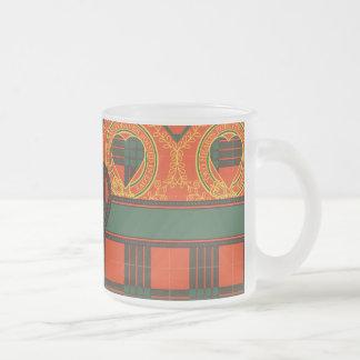 Cameron clan Plaid Scottish tartan Frosted Glass Coffee Mug