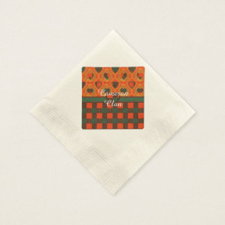 Cameron clan Plaid Scottish tartan Paper Napkins