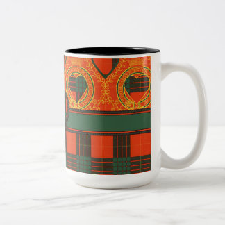 Cameron clan Plaid Scottish tartan Two-Tone Coffee Mug