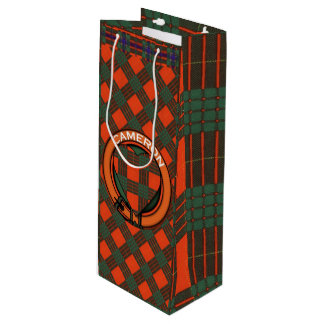 Cameron clan Plaid Scottish tartan Wine Gift Bag