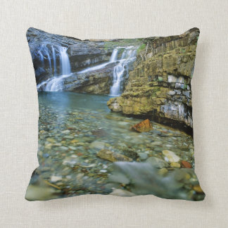 Cameron Falls in Waterton Lakes National Park in Throw Pillow