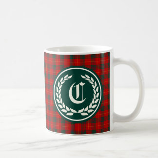 Cameron Family Red and Green Tartan Monogram Coffee Mug