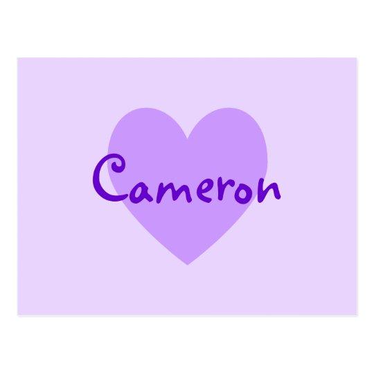 Cameron in Purple Postcard