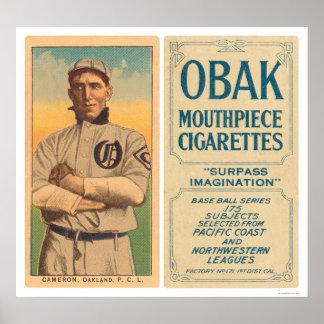 Cameron Oakland Baseball 1910 Poster