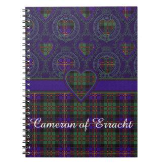 Cameron of Erracht clan Plaid Scottish tartan Notebook