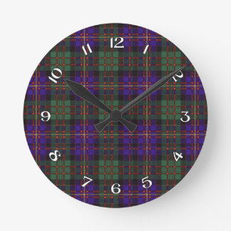 Cameron of Erracht Scottish tartan Round Clock