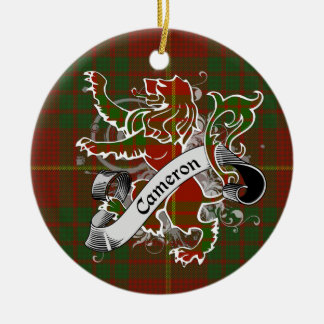 Cameron Tartan Lion Christmas Ornament