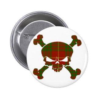 Cameron Tartan Skull No Banner Button
