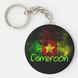 Cameroon Basic Round Button Key Ring