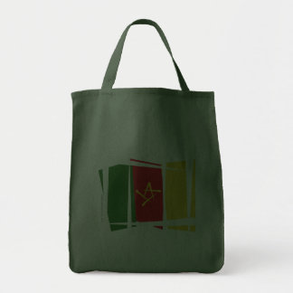 Cameroon Brush Flag Grocery Tote Bag
